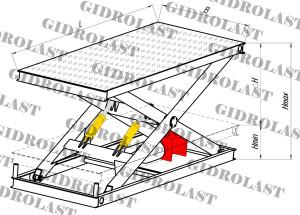 Стол подъемный ножничного типа Gidrolast