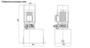 Насосная гидростанция PPC220/1,5-2,1-8B - схема