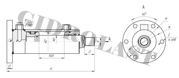 Чертежи поршневых цилиндров с креплением MF4