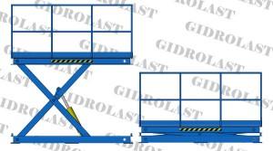 Гидравлические подъемные столы ножничные тип 1 — одноножничные